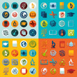 Set of education icons