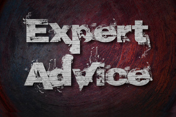 Expert Advice Text on Background