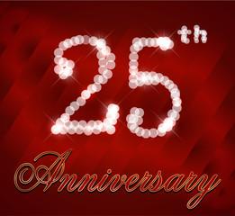 25 year happy birthday card, 25th anniversary sparkles