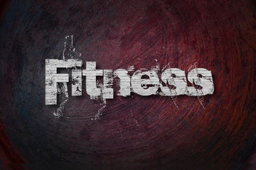 Fitness text on Background