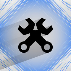 Wrench. tool to work. Flat modern web design on a flat geometric