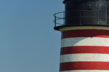 Red and white striped Lubec W Quoddy Lighthouser