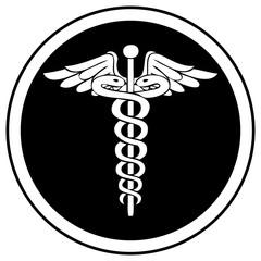 Emergency Symbol in Black & White.