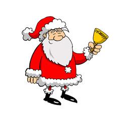 Jolly Santa Ringing A Bell