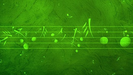 Animated background with musical notes - Seamless LOOP