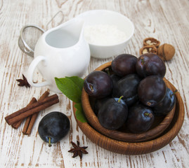 ingredients for baked with plums