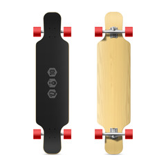Photorealistic longboard, skateboard