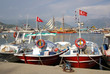 Boats in the port of Alanya, Turkey