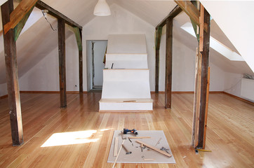reworking (renovation) of the old attic with a new