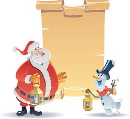 Santa Claus and Little Snowman 2