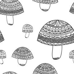 Mushroom Patern. Sketches