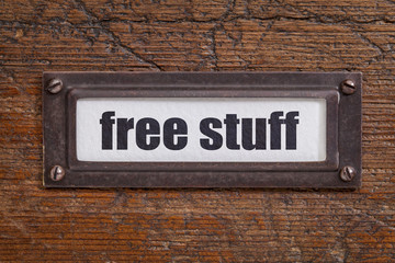 free stuff  - file cabinet label