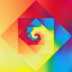 Vibrant optic art geometric pattern