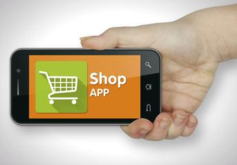 Shop app. Mobile