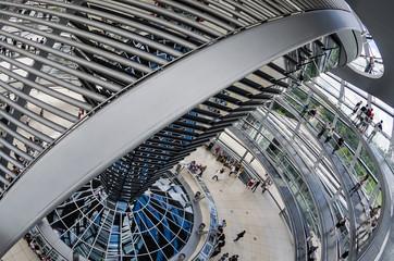 In der Kuppel des Reichstages
