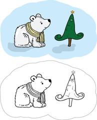 Медведь - раскраска