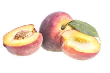 Peach in half