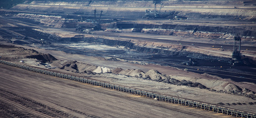 Brown coal strip mine