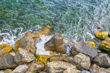 Rock sea coast