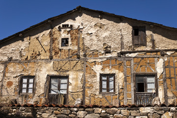 Old house facade