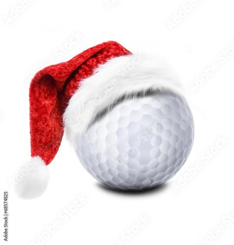 Fotobehang Golf Golfball mit Niklausmütze