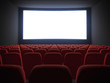 cinema screen with seats - 68575420