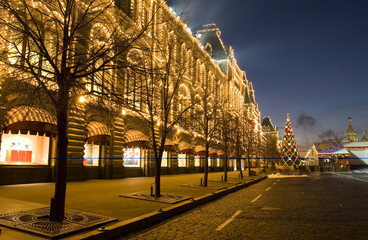 Moscow, Red square in Christmas