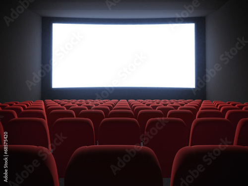 cinema screen with seats - 68575420