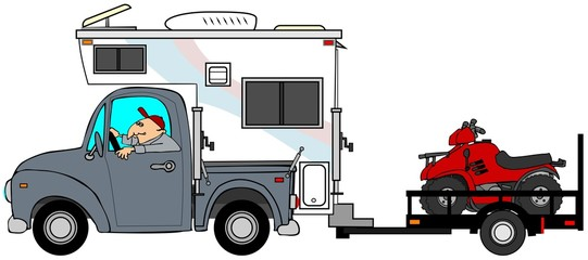 Truck & camper pulling ATV's