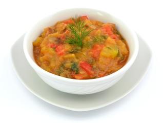 dish with zucchini