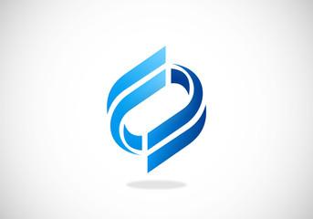 building construction abstract vector logo
