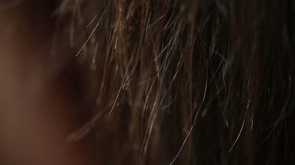 Unhealthy Woman Hair
