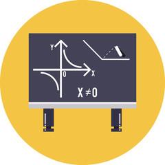 Vector Mathematical Formula on Blackboard