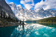 Leinwanddruck Bild - Moraine Lake, Rocky Mountains, Canada