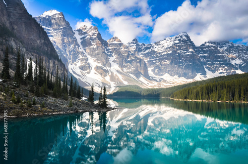 Plexiglas Meer Moraine Lake, Rocky Mountains, Canada