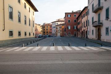 Piazza Carrara, Pisa, Italia