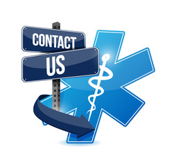 contact us medical symbol illustration design