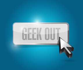 geek out button illustration design