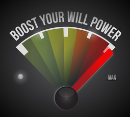 boost your will power to the max illustration