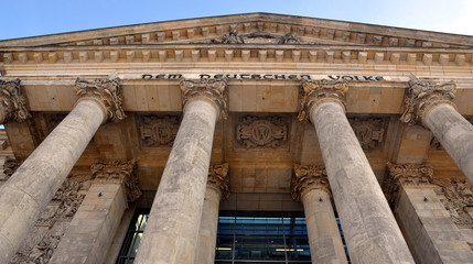 Columns of the Reichstag. Germany.