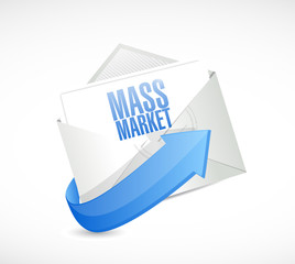 mass marketing email illustration design