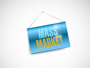 mass marketing hanging illustration design