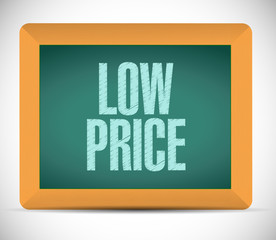 low price message blackboard illustration design