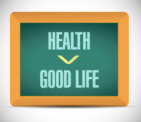 health and good life illustration design