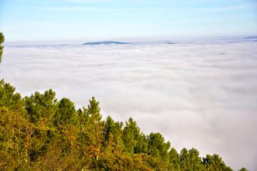 Valle de Alcudia, Castilla-La Mancha, niebla, mar de nubes