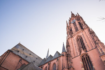 The Frankfurt Cathedral from bottom to top view
