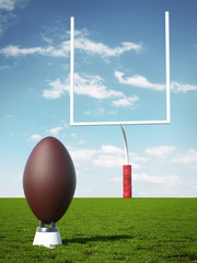 American Football with the Goal Posts