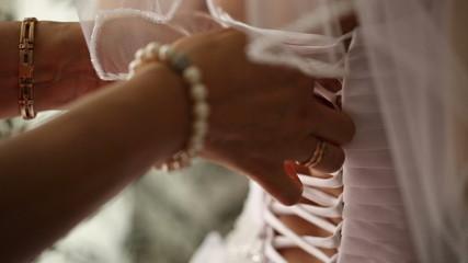 Lacing Of Wedding Dress