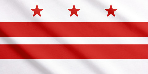 Waving flag of Washington DC