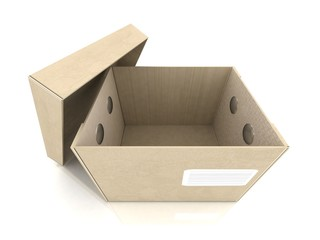 concept of an open cardboard box